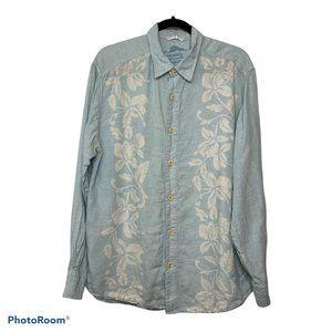 Tommy Bahama 100% Linen Hawaiian Button Up Shirt L